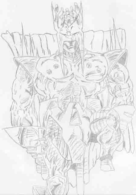 a drawing of strife done back in '90