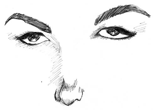 i just love drawing eyes, it's so hypnotizing ('98)